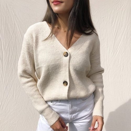 sona-button-knit-cardigan-beige